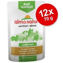 Almo Nature Anti Hairball kapsička 12 x 70 g - s kuracím mäsom