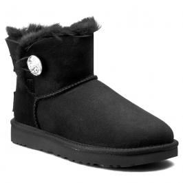 Topánky UGG - W Mini Bailey Button Bling 1016554 W/Blk